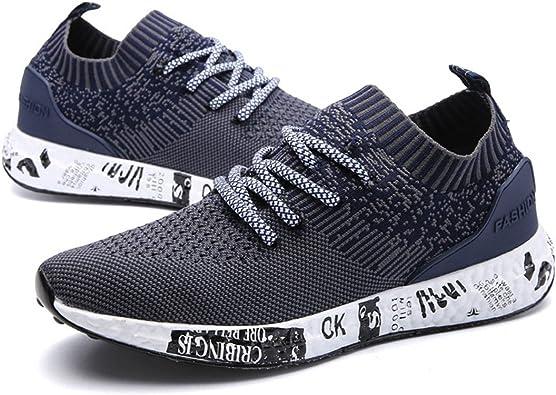 gracosy - Zapatillas de Running de Sintético para Hombre, Color Azul, Talla 42.5: Amazon.es: Zapatos y complementos