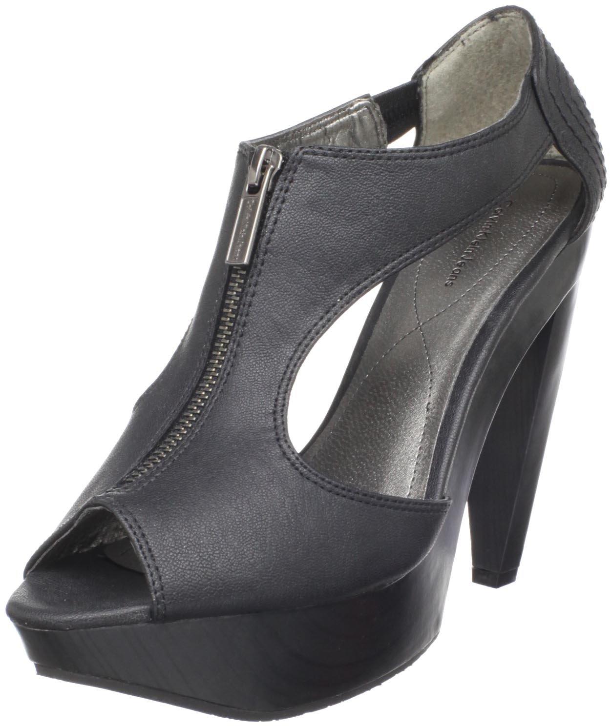 Calvin Klein CK Jeans Women's Sherry Platform Sandal B004SKHR5O 39 EU/8 B US|Black