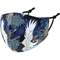Kranich Mondkapje, nul karaat, 100% katoen, wasbaar, herbruikbaar, kleur blauw