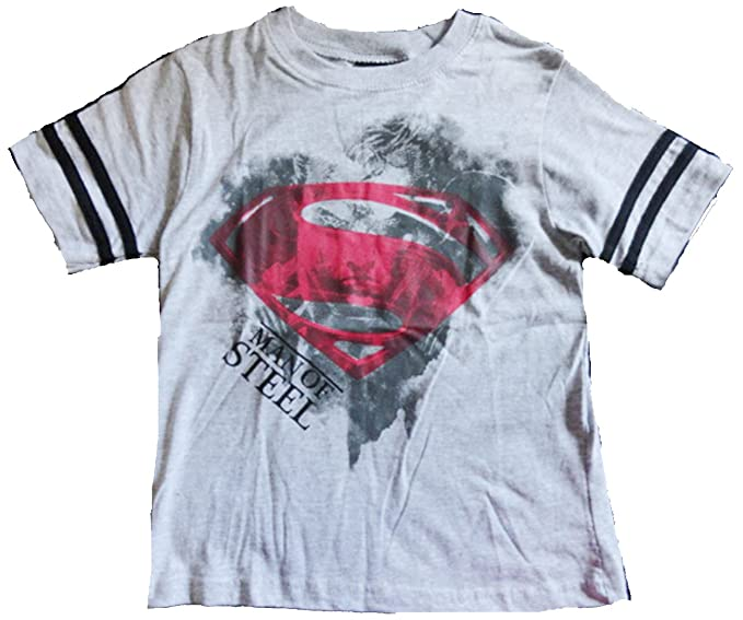 """345e480f Image Unavailable. Image not available for. Color: Superman Little Boy  """"Man Of Steel"""" Tee Shirt ..."""