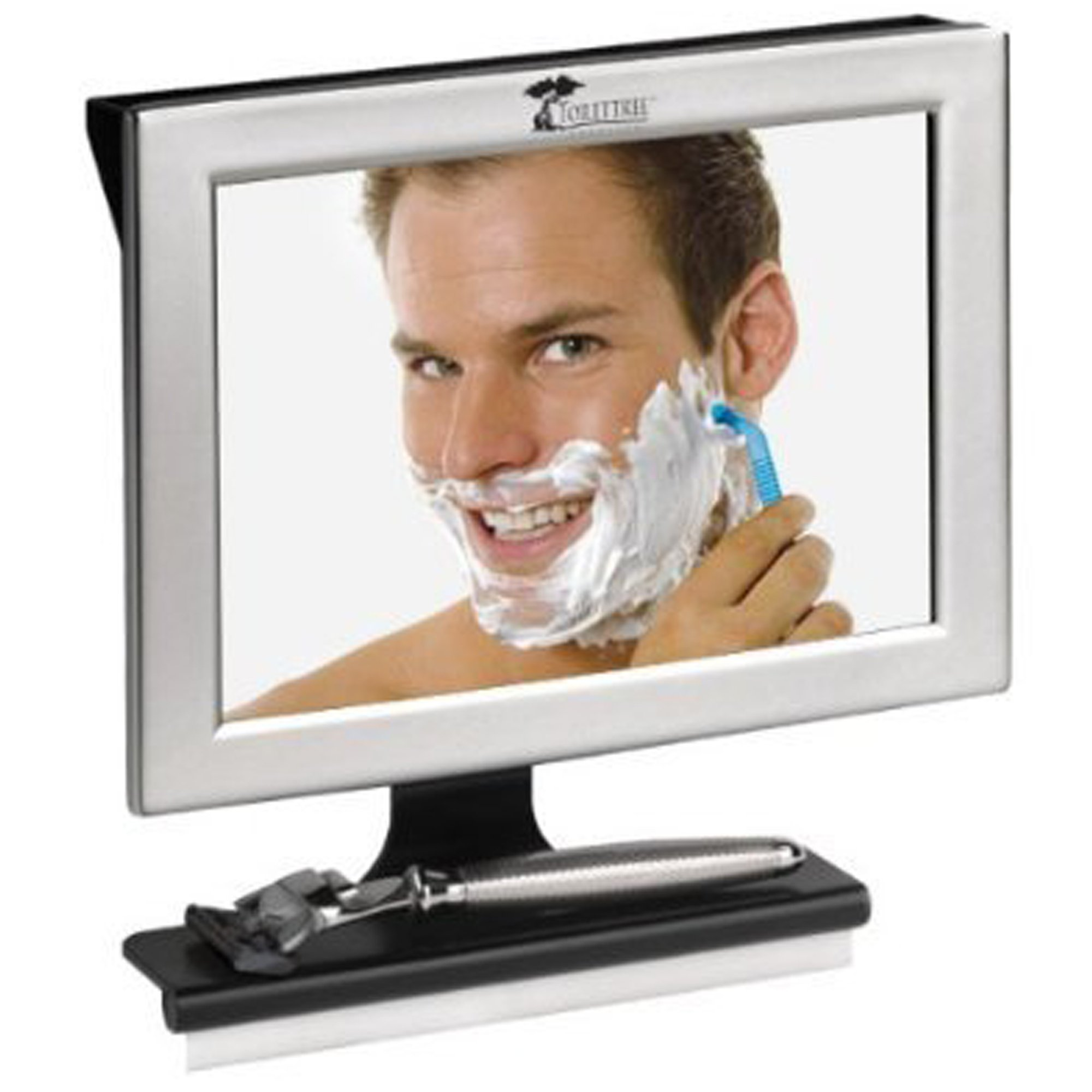 ToiletTree Products Fogless Shower Bathroom Mirror with Squeegee, Silver by ToiletTree Products