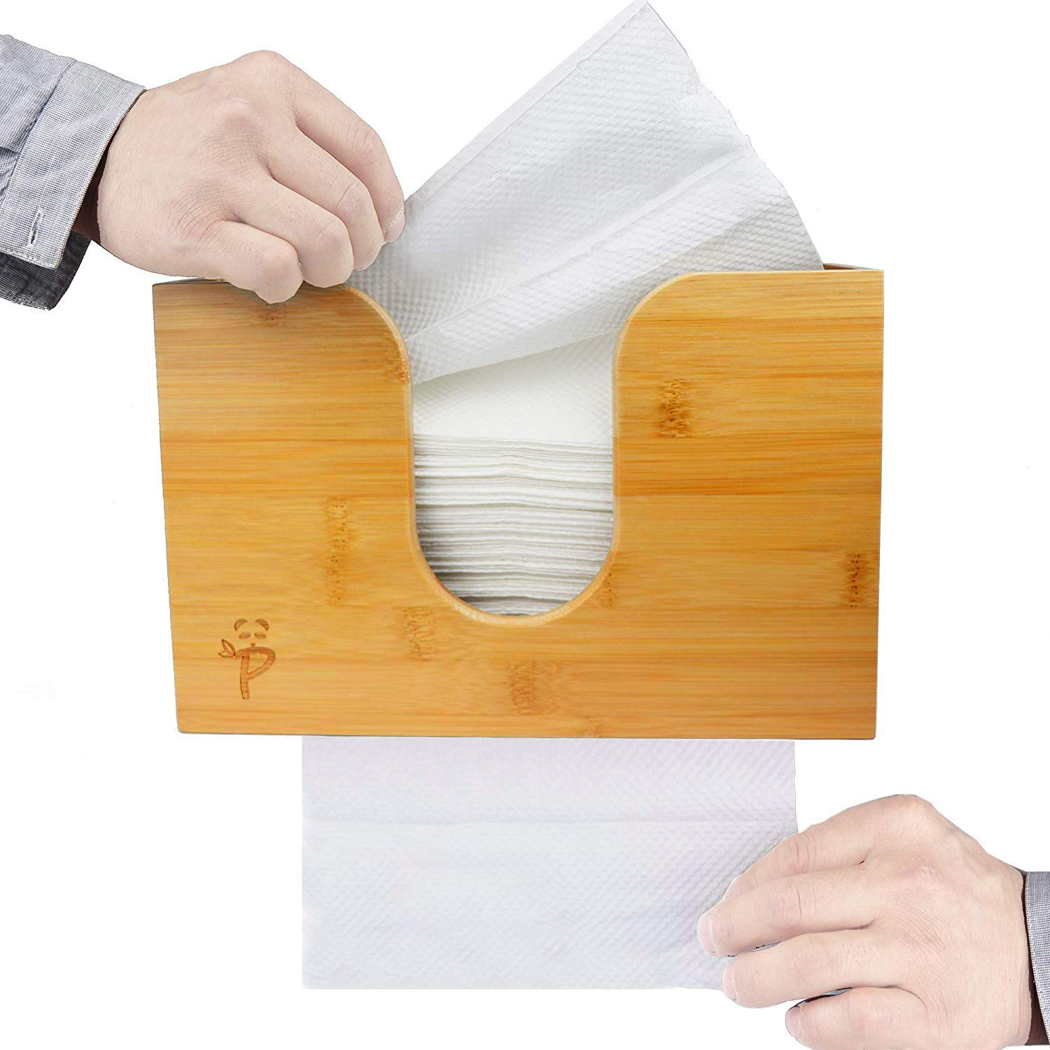 Triple fold Hand Towel Holder Dual Dispensing Smooth Bottom Dispensing and Beeswax Coated Commercial Z fold Bamboo Paper Towel Dispenser for Kitchen /& Bathroom Wall Mount//Counter-top Multi fold