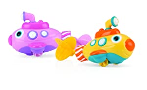 Nuby Little Submarine Pull String Bath Toy, Colors May Vary