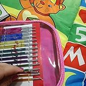 KnitPro Set di 2 ALLUMINIO Bent Cavo aghi piccoli 2,5 /& 4mm o grandi 6mm /& 8mm