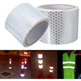 KING DO WAY 5cm X 3m Ruban Adhésif Réfléchissant Silver White Reflective Safety Warning Conspicuity Tape Sticker Film