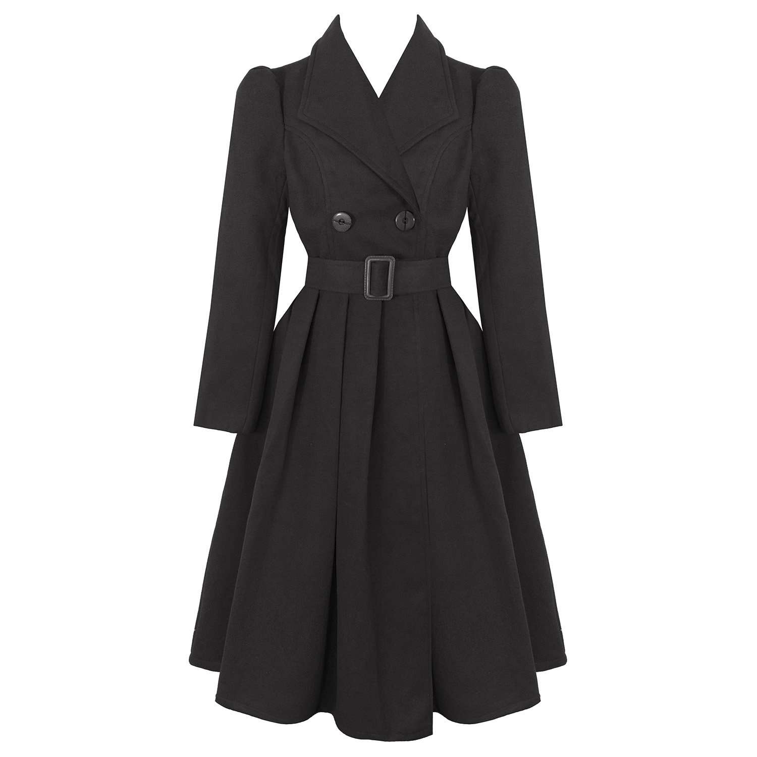 1940s Style Coats and Jackets for Sale hearts and Roses London Vintage 1950s Retro Statement Military Swing Coat £77.99 AT vintagedancer.com