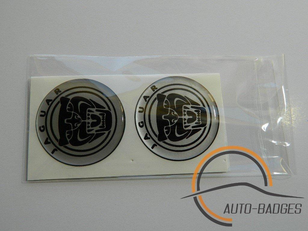 JAGUAR Lot de 4 plastique embl/ème auto-adh/ésif Badge 55mm postuler pour caches moyeux