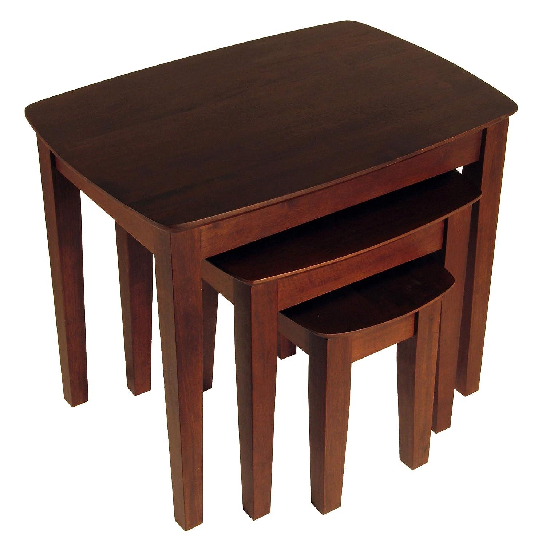 CDM product Winsome Wood Nesting Table, Antique Walnut big image