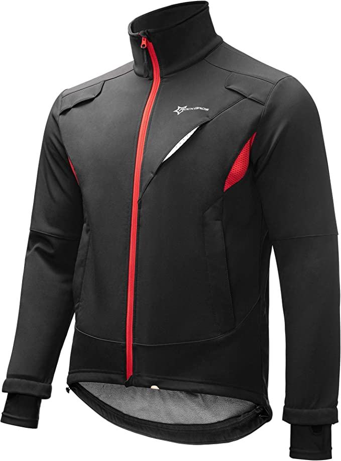 Mens Cycling Long Sleeve Jersey Thermal Super Roubaix Bike Jacket Winter Top