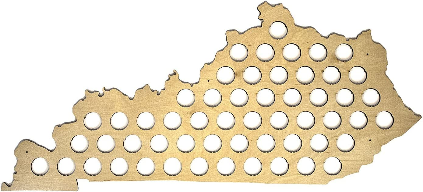 All 50 States Beer Cap Map - Kentucky Beer Cap Map KY - Glossy Wood - Skyline Workshop - Great Christmas gift!