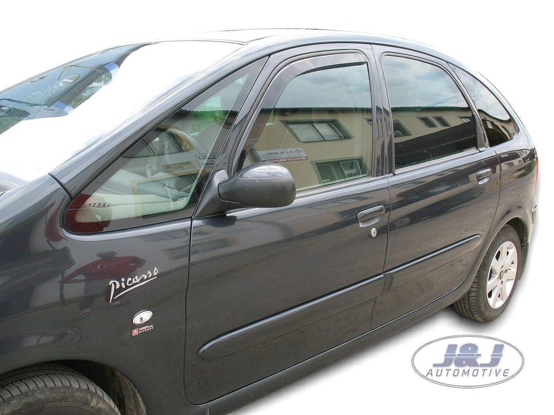 J/&J AUTOMOTIVE Deflecteurs dair D/éflecteurs de Vent Compatible avec Citroen XSARA Picasso 5 Portes 1999-08 2pcs
