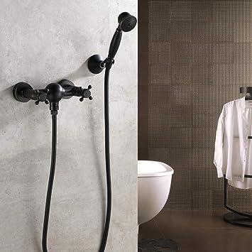 KaO0YaN-Shower Bronce Negro Grifo En Spray Grifo Para Ducha De ...