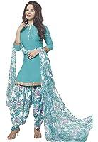 Ishin Women's Synthetic Dress Material (Ddrrjgr-Rmzm9058_Blue_Free Size)