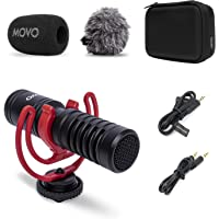 Movo VXR10-PRO External Video Microphone for Camera with Rycote Lyre Shock Mount - Compact Shotgun Mic and Accessories…