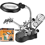 Lnchett Led Light Magnifier & Desk Lamp Helping Hand with Magnifying Glass