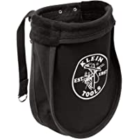 Utility Pouch Perfect for Carrying Nuts and Bolts, With Interior Pocket, Black No. 10 Canvas; Klein Tools 51A