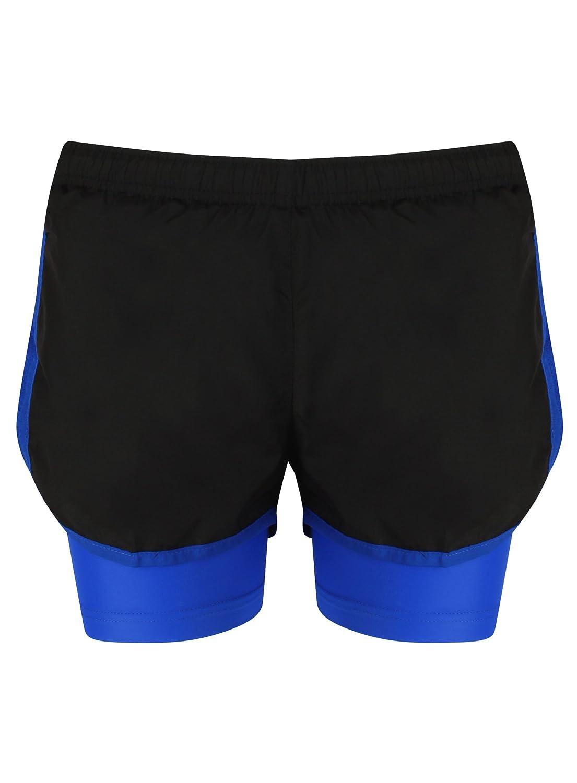 TALLA 38. Pantalones cortos 2en 1para hacer deporte, transpirables, para mujer