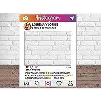 Photocall Instagram Personalizado Eventos o Celebraciones puntuales | Medidas 100x80cm | Ventanas Troqueladas…