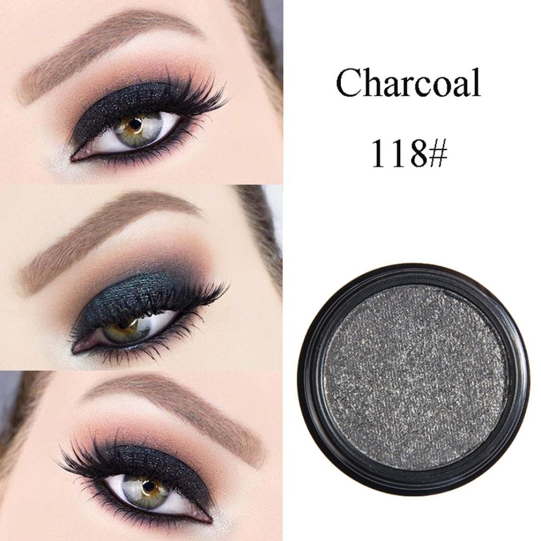 Roysberry EyeShadow,Makeup Eyes Metallic Multi Shiny Color, Beauty Pearls Powder, Eye Shadow Palettes Lady Makeup Small Color Round Colors Eye Shadow Baked Palettes (Charcoal)