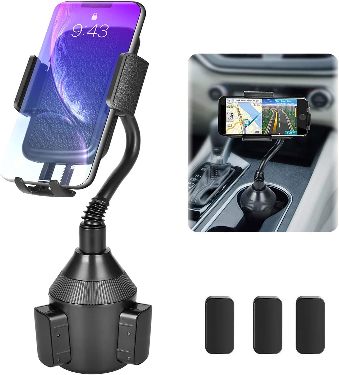 One-Touch Design Universal Car Holder for Google Nexus Air Vent//CD Slot Galaxy S5//S6//S7//S8 iPhone Xs//Xr//8Plus//7//6s////5S Both Modes Huawei and More 4351536645 Arrkn Car Phone Mount