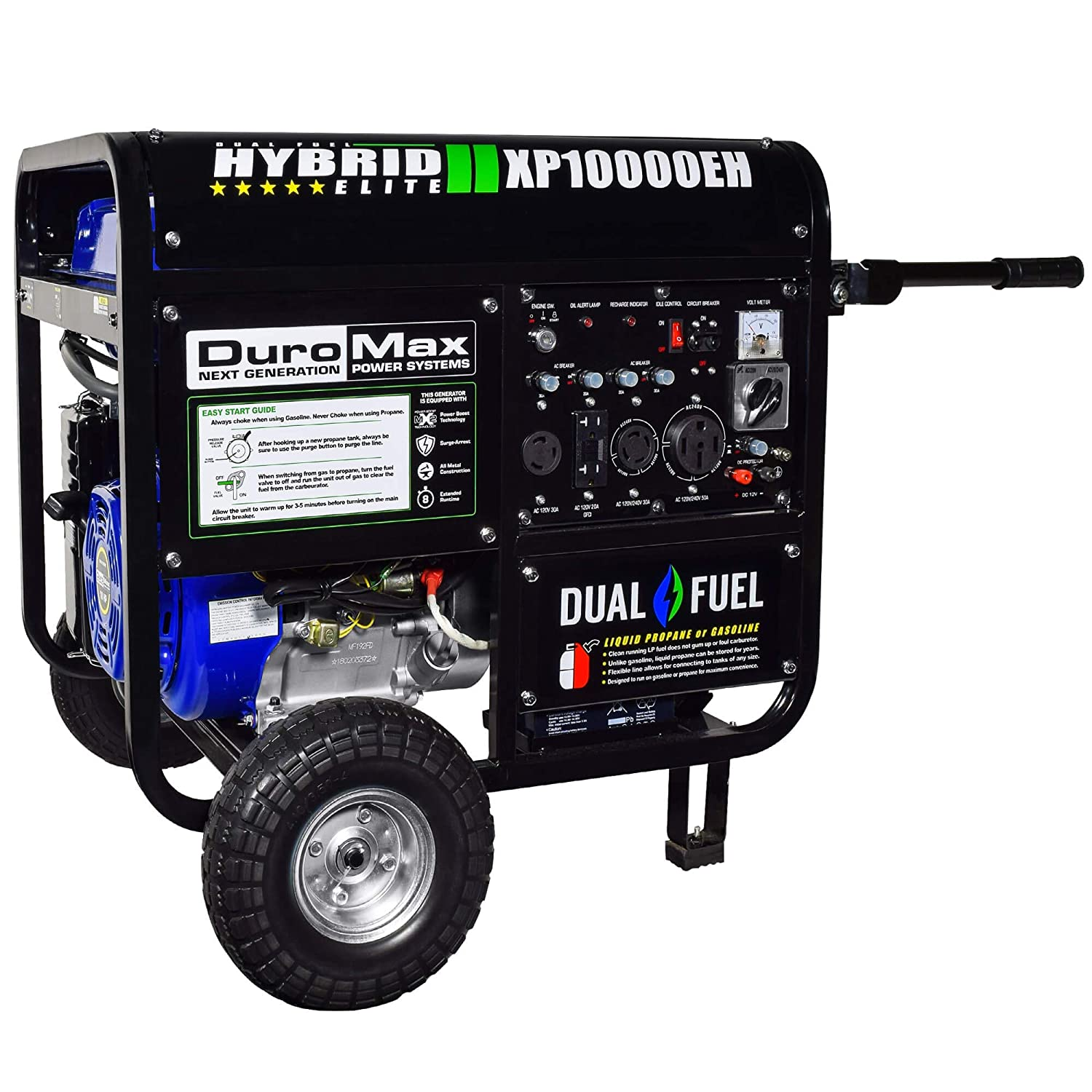 Duromax Xp10000eh 10000 Watt Dual Fuel Hybrid Generator Wiring A House For Portable W Elec Start 50 State Garden Outdoor