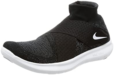5f7bffe2b43 Nike Women s Free RN Motion Flyknit 2017 Running Shoe Black White-Dark Grey-