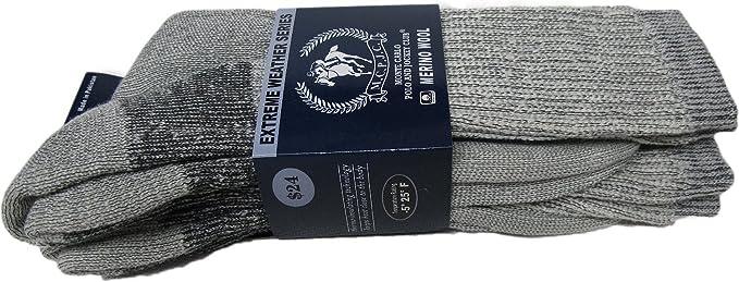 Monte Carlo calcetines de lana de oveja merina para, Color 2 pares gris, tamaño