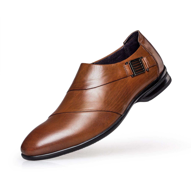 「ゼロ」ZRO ビジネスシューズ メンズ 本革 モンクストラップ スリッポン 紳士靴 B06XRC1TCP 26.5 cm|ブラウン ブラウン 26.5 cm