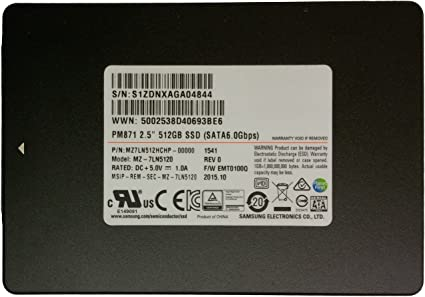 Samsung PM871 512 GB Serial ATA III 2.5