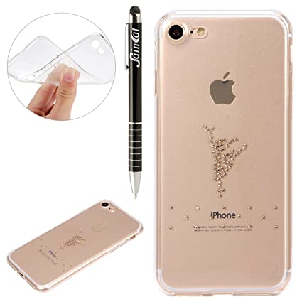 Custodia iPhone X iPhone 10 Cover Glitter SainCat Custodia in