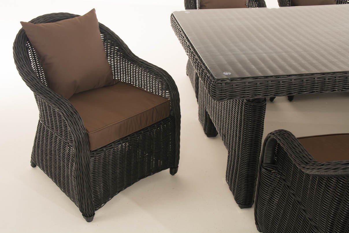 CLP/de mimbre juego de comedor sillones de jardín Candela XL ...