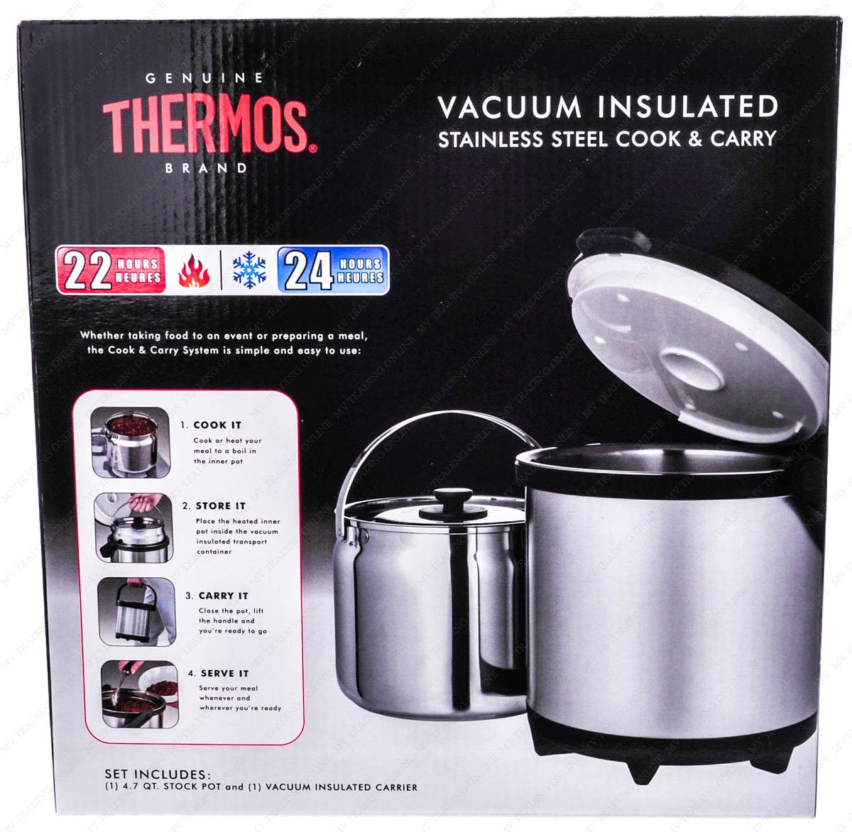 Thermos Nissan CC-4500P Thermal Cookware and Carry, 4.5 Liters by Thermos