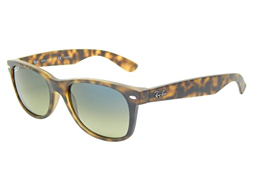 319e1693528 Image Unavailable. Image not available for. Color  Ray Ban Wayfarer RB2132  894-76 Matte Havana  Blue Green 55mm Polarized Sunglasses