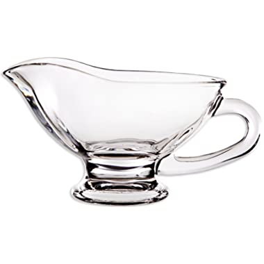 Circleware 20112 Saucy Glass Gravy Dish with Handle, 10 oz, Clear