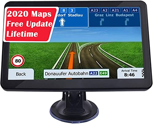 GPS Car Navigation, 7-inch Display 256MB-8GB Real Voice Broadcast Route US 2020 Map Free Map Update for Life