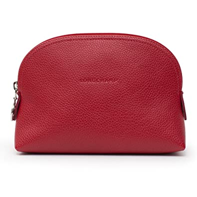 Longchamp Le Foulonne Leather Coin Purse Red Bag New  Handbags  Amazon.com 36a7e23ba2e04