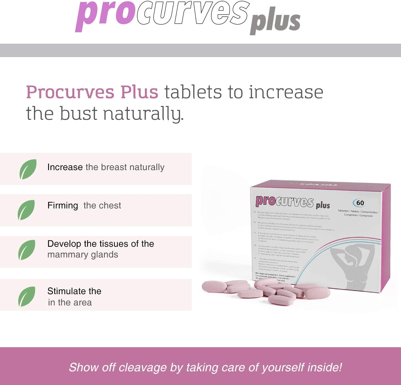 Procurves Plus - Pastillas para aumentar el pecho