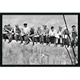 """Framed Art Print, 'Lunch on a Skyscraper, 1932' by Charles C. Ebbets: Outer Size 37 x 25"""""""