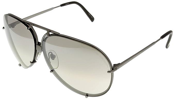 1a2e8da4d8cd Porsche Design Sunglasses Large Aviator Special-Edition Interchangeable  Grey 8478 6610: Amazon.co.uk: Clothing