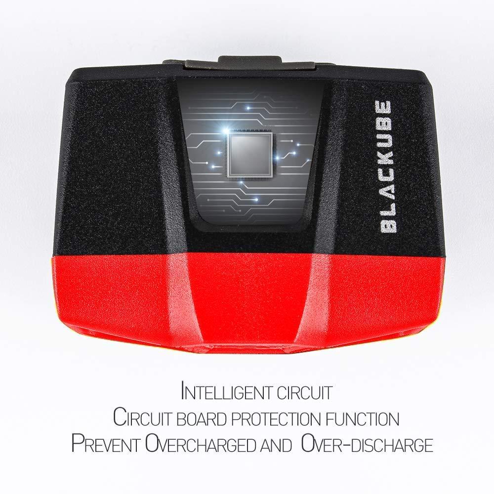 Impermeable Ligero Blackube Capuch/ón de clip Sensory recargable -LED de pesca nocturna s/úper brillante 55 Lumen Manos gratis para caza Pesca Correr Acampar Mini 0.88 oz