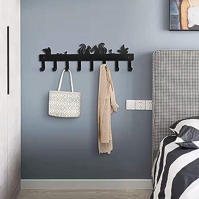Cute Squirrel Wall Hanging Hook Key Coat Rack Hanger Kitchen Bathroom Hook NEW