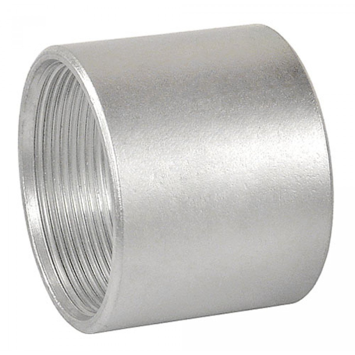 1 Pc, 6 In. Galvanized Rigid Threaded Coupling to Bond Threaded Conduits to Electrical Junction Boxes Or Enclosures