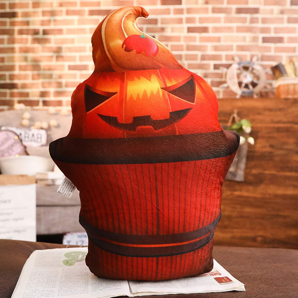 3D Cherry Cake Pumpkin About 45 centimeters ( Yancyong Three-Dimensional Printing Halloween Pumpkin Head Pillow,3D Cherry Cake Pumpkin About 45 Centimeters (See Description Chart For Details)