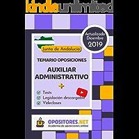 Temario Oposiciones Auxiliar Administrativo, Junta de Andalucía.: Actualizado Diciembre 2019. Tests, Legislación…
