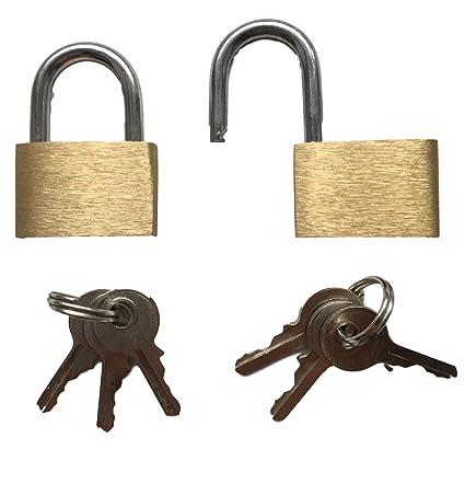 2 x Candado/Pequeño Candado con tres llaves – Vers Perren de cremallera, bolsillos