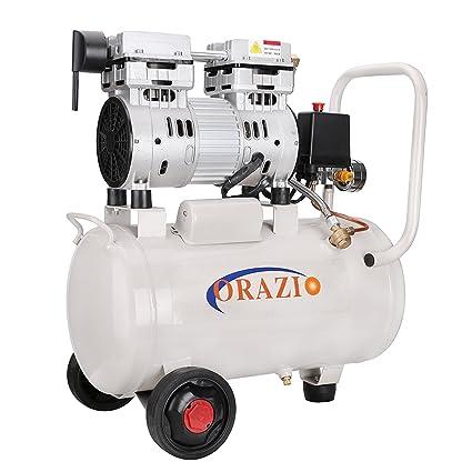 Compresor de Aire Silencioso 65DB 220V 1100W 24L para Garaje o Clínica - 241184