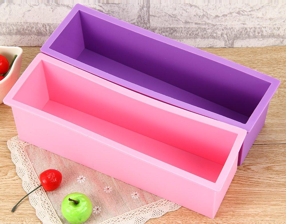 Molde rectangular de silicona de 1,2 L para reposter/ía casera pan tarta jab/ón Ndier