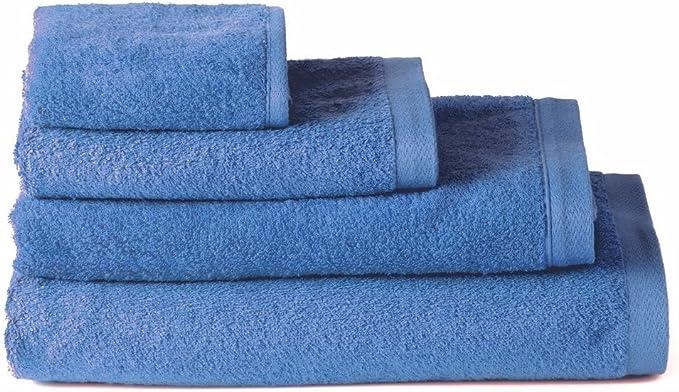 Pack 4 Toallas 30x50 cm azul 100/% algod/ón rizo americano 550 gram//m2
