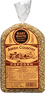 product image for Amish Country Popcorn | 2 lb Bag | Baby White Popcorn Kernels | Small and Tender | Old Fashioned with Recipe Guide (Baby White - 2 lb Bag)