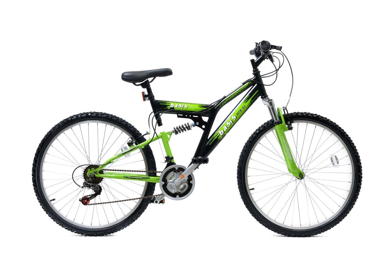 Basis 2 Full Suspension Mountain Bike 26 Wheel 21 Speed Black Green